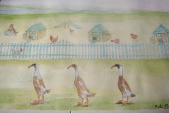 indian-runner-ducks-water-colour